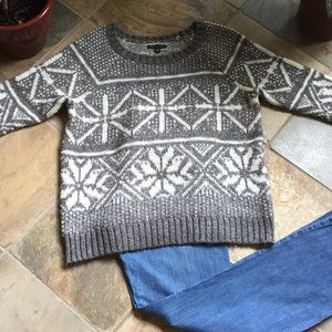 AEO Sparkly Wool Blend Snowflake Sweater -like NEW